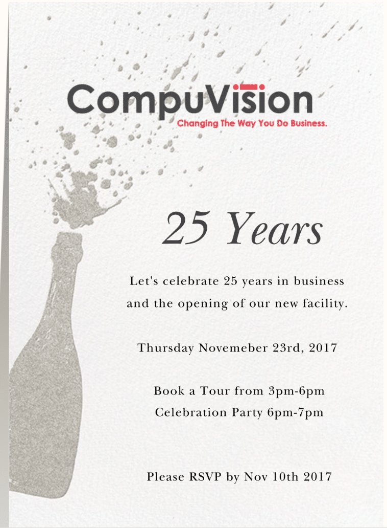 CompuVision Celebrates 25 Years in Business