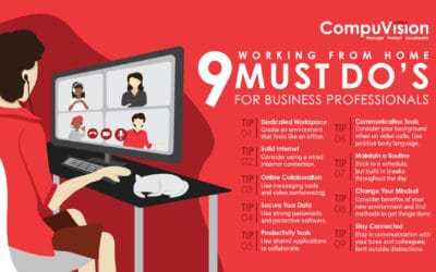 Infographic: 9 Must Do's for Business Professionals Working From Home